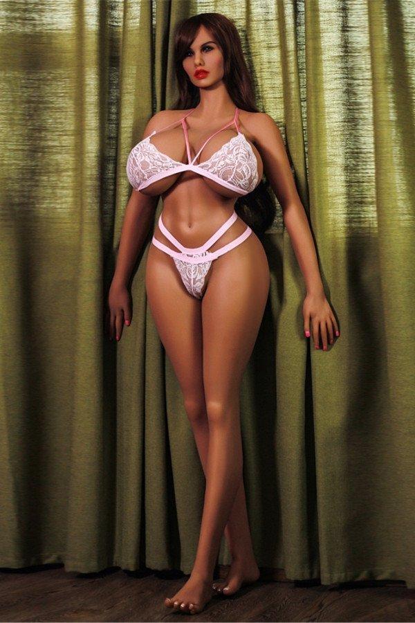 Brown Long Hair Big Breast Adult Love Sex Doll-Hazel 170cm